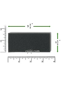 Respironics Remstar reusable black filter top rulers