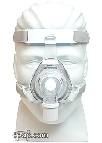 TrueBlue CPAP Mask Front - Shown on Mannequin