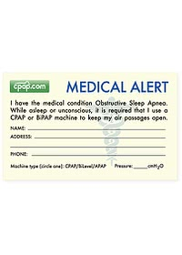 cpapdotcom medical alert ID front