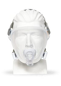 Current Style - Front View of the FitLife Total Face CPAP Masks - Dove Gray Headgear (Mannequin Not Included)