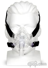 Zzz-Mask Full Face CPAP Mask with Headgear Front - Shown on Mannequin (Not Included)