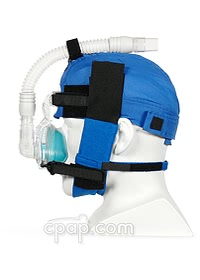 pursleep papcap cpap 4 point headgear chinsrap installed side