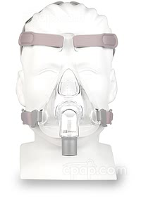 Simplus Full Face CPAP Mask with Headgear - Front View (Mannequin Not Included)