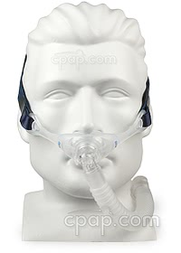 Stealth Nasal Pillow CPAP Mask Hose Down - Mannequin